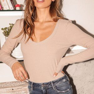 🆕 | cassidy ribbed long sleeve top |